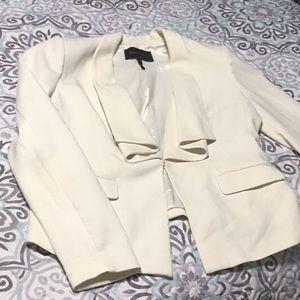 Creme/Ivory BCBG Maxazria Blazer Size L